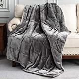Uttermara Sherpa Fleece Weighted Blanket 15 lbs for Adult, Unicolor Ultra-Soft...