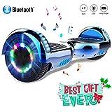 COLORWAY Hoverboard Hover Scooter Board 6.5 Pulgadas con Ruedas de LED, Patinete Eléctrico con Bluetooth de 700W Auto-Equilibrio
