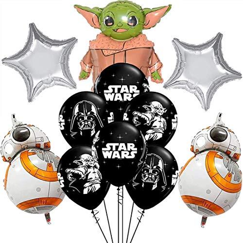 Packung 17 Ballons Star Wars ZSWQ-Star War Latex Ballons mit Bändern Geburtstag Party Dekoration Karneval für Partys und Geburtstage. Ideal,um Ihre Partys zu schmücken