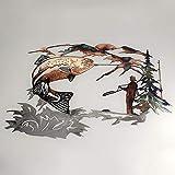 3D Metal Wall Art,Solo Mallard Hunting &...