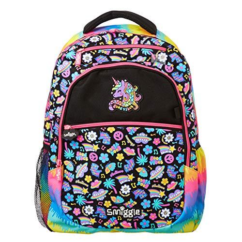 Smiggle Express Kids Schulrucksack für Jungen & Mädchen mit Laptopfach & zwei Trinkflaschenhüllen, mix (Mehrfarbig) - 148172