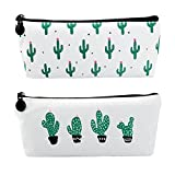 Cactus Pencil Pouch Box Pencils Bulk Pen Bag Makeup Pouch Small Cosmetic Bags for Purse Cactus Pastoral Bandage Set, Korean Style