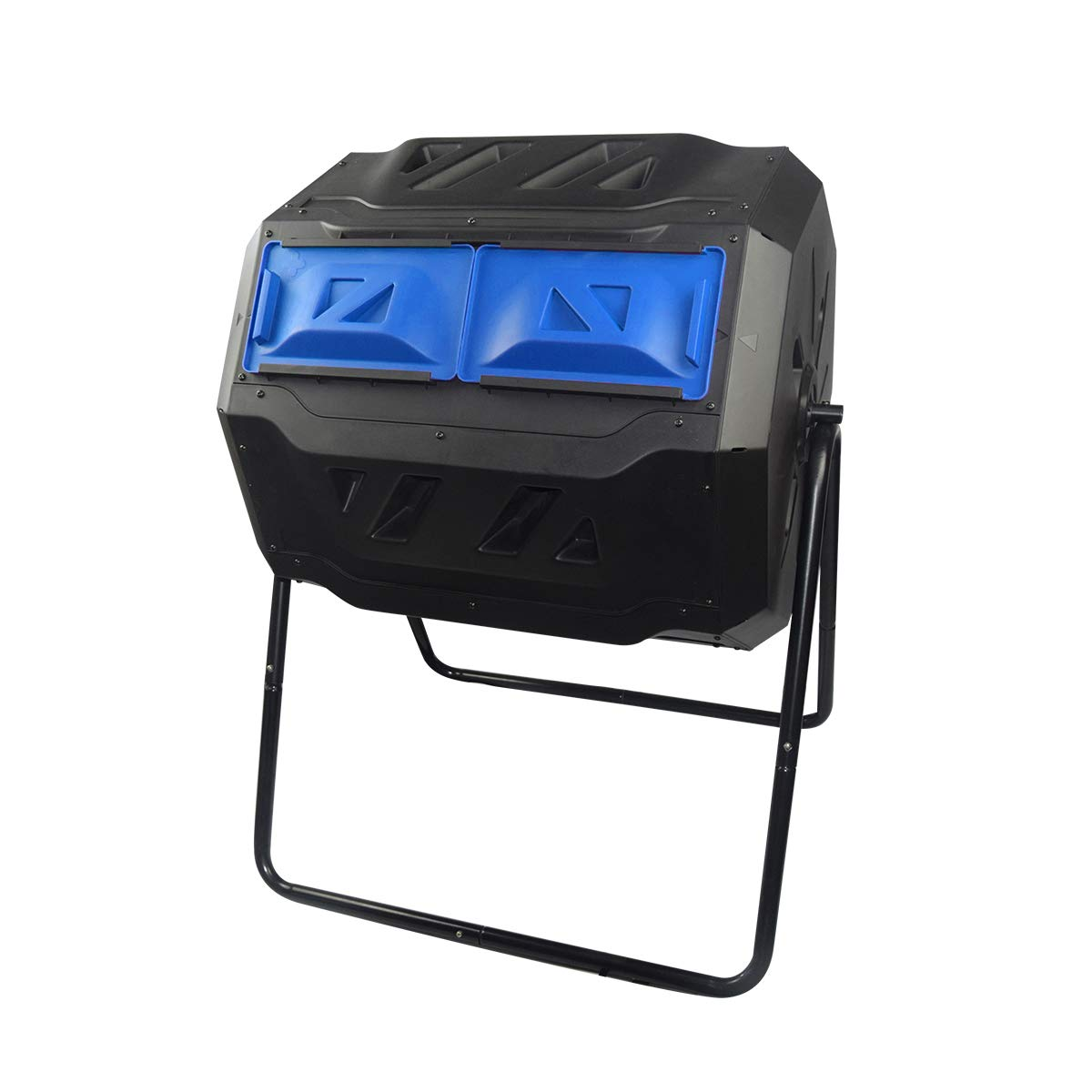 Compost Tumbler Outdoor Rotating Dual Compartment