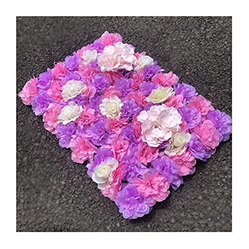 YNGJUENCP Paneles De Flores Pantalla De Pared De Flores Artificiales 60x40cm (24'x16) Romántico De Fondo Floral Hedge Decoración para El Hogar Fondo De Fiesta De Boda - Purple R(Size:10pcs,Color:01)