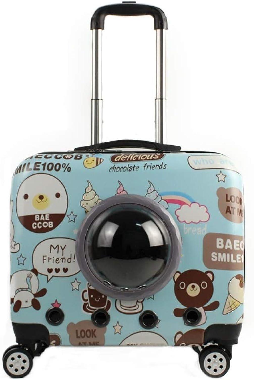 WEI WEI WEI Pet Bag Creative Space Pet Dog and Dog Trolley