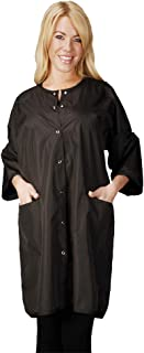 Ladybird Line Unisex Groomer Big Shirt Hair Repellent and Water Resistant Black - One Size Fits Most
