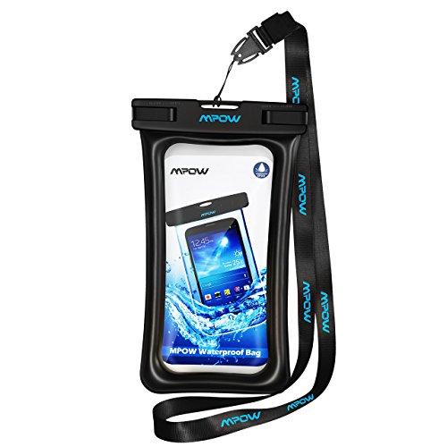 Mpow Schwimmender Stil 077A wasserdichte Schwimmende Handytasche, Handytasche Wasserdicht, Staubdichte Schützhülle für iPhone 11/iPhone XS/X/XR/8/8 Plus/Galaxy S20/10/S9/S8/P30/P20