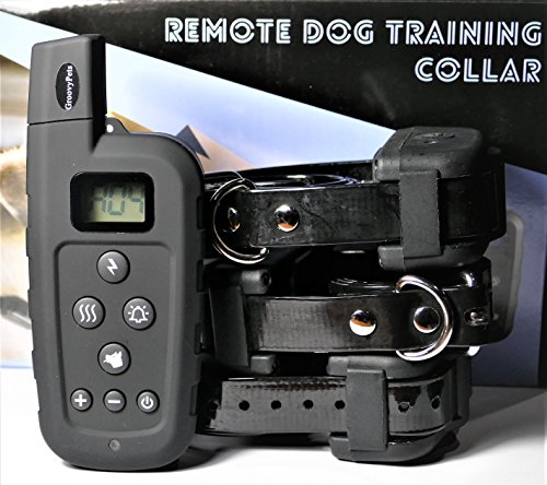 GROOVYPETS 650 YD Remote Dog Training Shock Collar Hunting Trainer E-Collar Waterproof Rechargeable (Three-Dog Model)