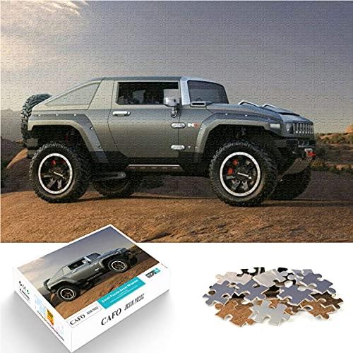 Puzzle 1000 Piezas de Hummer HX Concept 2008 Auto Car Paper Puzzle dificultad y desafío 26x38cm Juego Familiar para aliviar el estrés