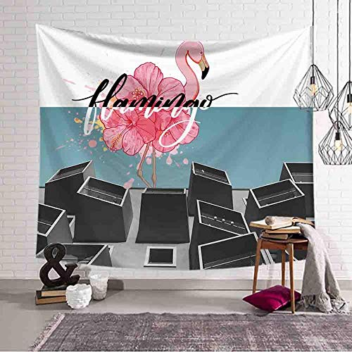 Flamingo Series Tapestry Animal Wall Mounted Tapestry Gobelin Mural Wall Cloth Tapestry Background Cloth A3 73x95cm