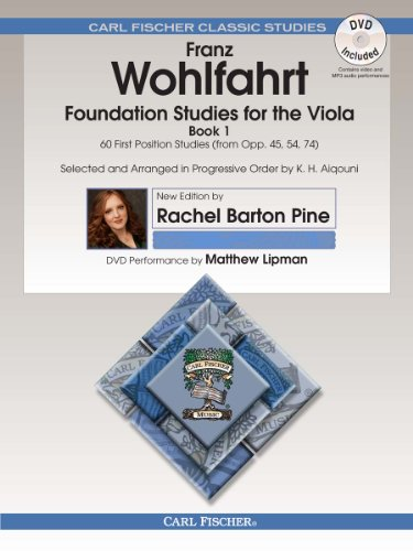 O2659X - Foundation Studies for the Viola - Book 1: 60 First Position Studies (from Op. 45, 54, 74) - Book & DVD (ALTO)