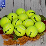 KEVENZ 12-Pack Green Advanced Training Tennis Balls,Practice Ball...