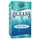 Garden of Life Ultra Pure EPA/DHA Omega 3 Fish Oil - Oceans 3 Better Brain Supplement with Antioxidants, 90 Softgels