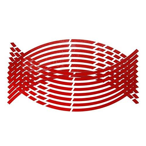 SGYANZLG Pegatinas de neumáticos de la Rueda de la Motocicleta Calcomanías Reflectantes de la Cinta de la llanta para fit for h o n d a CBR250R VFR 1200 F ST 1300 Black Spirit NC750 S X (Color : Red)