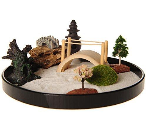 Jardin zen Icnbuys avec lot d'accessoires et outils pour réaliser votre propre jardin, Métal, J