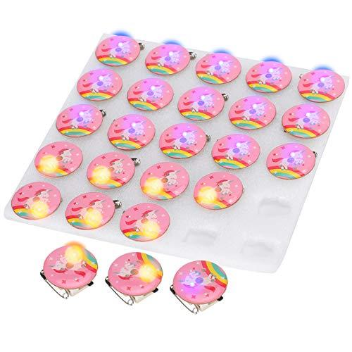 SALUTUYA Insigne de lumière LED en Plastique de Forme de Bande dessinée Mignonne pour la décoration de vêtements 3 Piles AG3 de cellules