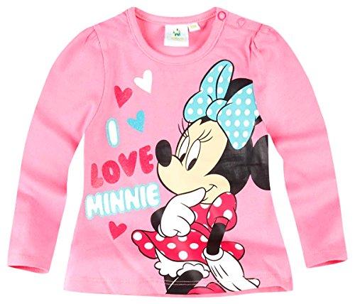 Tee shirt manches longues bébé fille Minnie Rose de 3 à 24mois (18 mois)