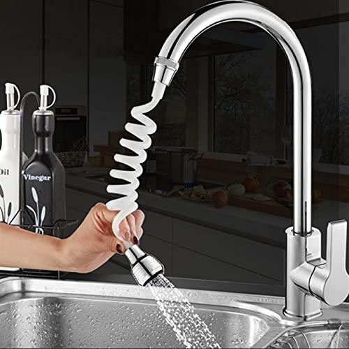BAUSE Cocina Baño Grifo Extensión Extensión Manguera Larga Espuma de Espuma de Espuma Tapón Adaptador Grifo Extensor Baño Accesorios de Cocina (Color : White)