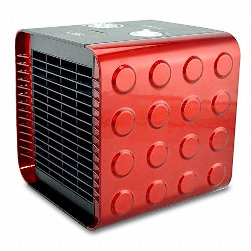 NQ Calentador Calentador Calefacción Eléctrica Mini Hogar Ahorro de Energía Calentador Uso Del Baño,Rojo