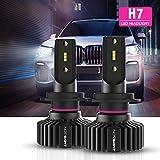 NOVSIGHT H7 LED Headlight Bulbs High Low Beam, 50W 10000 LM LED Waterproof