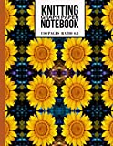 Knitting Graph Paper Notebook: Beautiful Knitters Journal for Sunflower Lovers (Cute Knitting Gifts for Knitters)