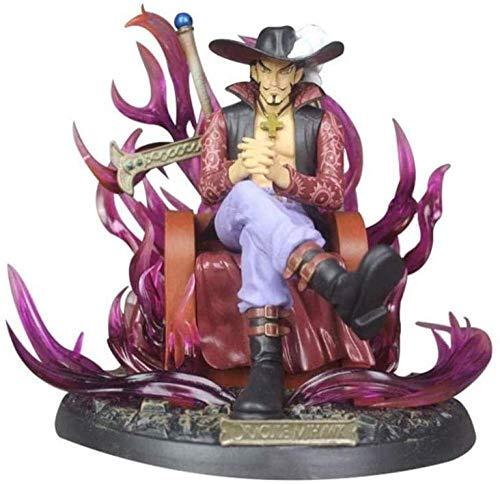 -HPJ Doll One Piece Dracula Mihawk en el Modelo Trone Ver Modelo PVC Alto 23 cm (9 Pulgadas) WMD3