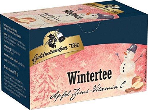 Goldmännchen Wintertee Wildapfel-Zimt, 20 einzeln versiegelte Teebeutel, 3er Pack (3 x 50 g)