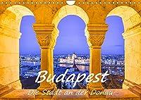 Budapest - Die Stadt an der Donau (Wandkalender 2022 DIN A4 quer): Ein Spaziergang an der Donau entlang mit ausdrucksstarken Fotografien von Stadt und Fluss (Monatskalender, 14 Seiten )