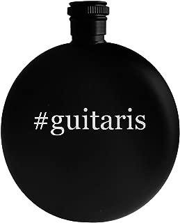 #guitaris - 5oz Hashtag Round Alcohol Drinking Flask, Black
