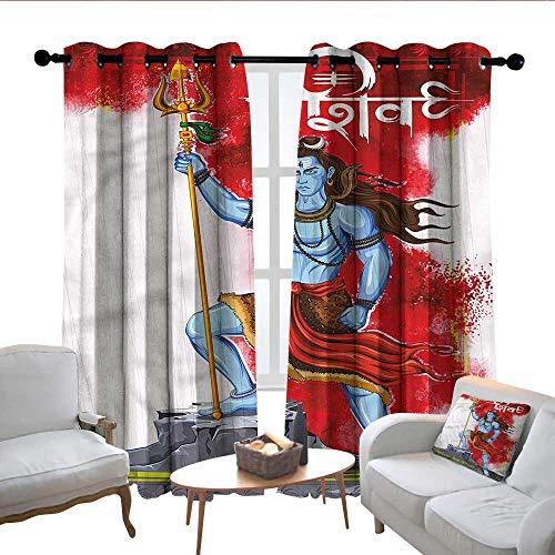 Lewis Coleridge Tende con Occhielli Etniche, Motivo mediorientale, Tende oscuranti per finestre della Camera da Letto, Poliestere, Colore 04, 54' W x 84' L