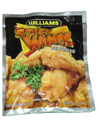Williams Spicy Wings Seasoned Coating Mix of 5oz(Pack of 3)