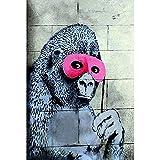 ZXCLKJH Banksy Kunstdruck Auf Leinwand,Banksy Gorilla In