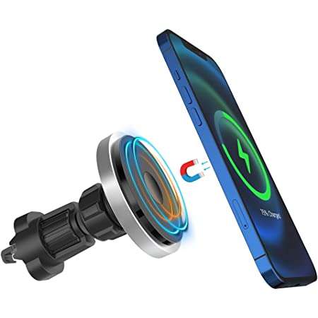 Magnetic CarMount Design for iPhone 12//Pro//Mini-Series Fast USB-C Wireless Car Charger Magnetic Qi Wireless 15W//7.5W//5W Aluminum Metal 90 Days Warranty