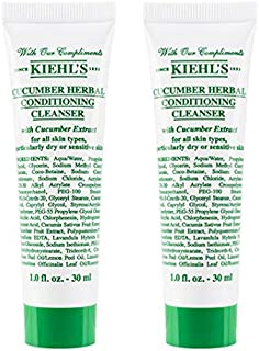KiehIs Cucumber Herbal Conditioning Cleanser Travel Size, Pack of 2, Total 2oz/60ml