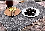 6er Platzdeckchen mit einem Tischläufer,Eageroo Rutschfest Abwaschbar Tischmatten aus PVC Abgrifffeste Hitzebeständig Tischsets Schmutzabweisend,Hellgrau (6er Platzsets + ein Tischläufer) - 7