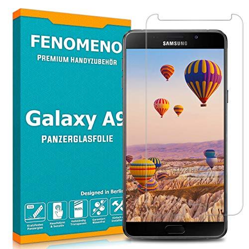 FENOMENO Panzerglas für Samsung Galaxy A9 – Hauchdünne Schutzfolie aus Kratzfestem Schutzglas mit Fettabweisender Beschichtung - Premium Folie