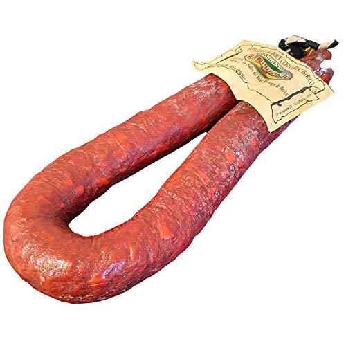 Chorizo de Buey con Cerdo Ibérico - Chorizo de León Peso Aproximado 500 gramos - elaborado tradicionalmente y curado en la montaña leonesa
