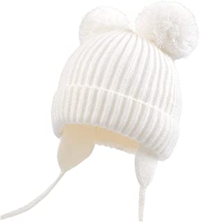 Duoyeree Kids Baby Hat Soft Warm Cable Knit Beanie Toddler Girl Fall Winter Hats