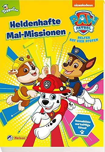 PAW Patrol: Heldenhafte Mal-Missionen: Mehr als 60 PAWtastische Malbilder und Rätsel (ab 3 Jahren)