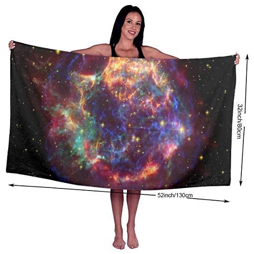 N/A Cassiopeia A Cas Supernova Rest Utopia Handtücher, schnell trocknend, Mikrofaser, Badetuch, Pool, Fitnessstudio, Handtücher, Hotelqualität, Unisex, personalisierbar
