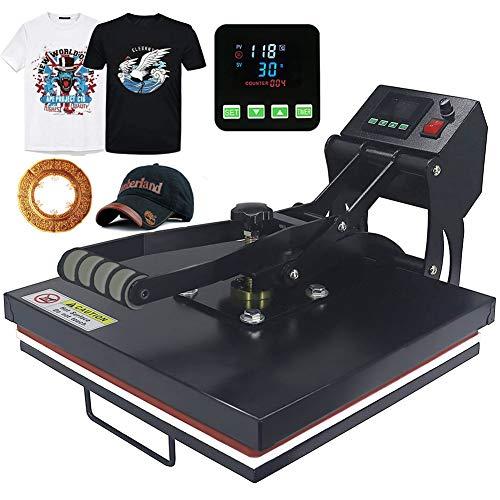 Sibosen Industrial Power Heat Press Digital Sublimation Heat Press Machine for T Shirts and HTV Vinyl Projects, 15x15 Heat Press Transfer Machine