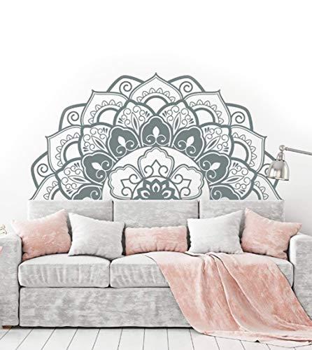 Wandtattoo Mandala Buddhistische Dekoration Wandtattoo Indische Blume für Meditation 42 x 84 cm / 16,53 x 33,07 zoll (C)