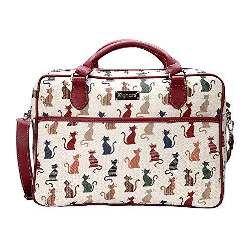 Signare Tapiz Funda portatil 15.6 Pulgadas Funda Ordenador 14 Pulgadas Funda Ordenador maletin portatil con diseño Animal (Gato descarado)