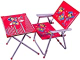 Eela's Multipurpose Kids Study Table Chair Set for 2 Years to 8 Years Kids (Pink Color), Design May Vary