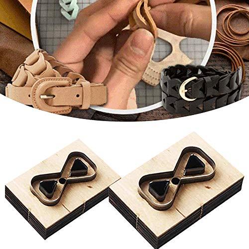 Molde de perforación de Acero Multiusos de 2 tamaños Herramientas de Troquelado de Cuero Molde de Cuero de Corte en Relieve para fabricación de Correas de Bolsos de Cuero, Accesorios de Tela