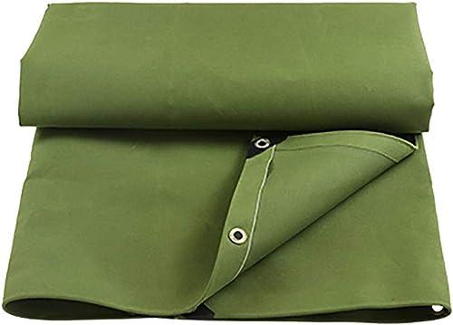 TAO-bache imperméable Verte pour Camper, pêcher, Polyester Fort 450g   Cover de Couverture de Voiture de Jardin (Taille   4m6m)