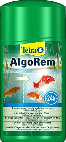 Tetra Pond AlgoRem – Traitement de l'Eau des Bassins de Jardin – Elimine l'eau verte et Limite la formation des Algues – Favorise une Eau Claire et Saine en 24H – 1 L