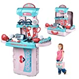 eeFul Kids Toy Doctor Kit - 20 Pcs Medical Set Splicing Toy Pretend Play Dentist Playset with Portable Storage Case for Over 3 Years Old Girls & Boys Toddler