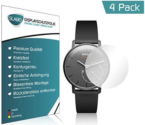 Slabo 4 x Bildschirmschutzfolie für Withings Activité Pop Bildschirmschutz Schutzfolie Folie Crystal Clear KLAR