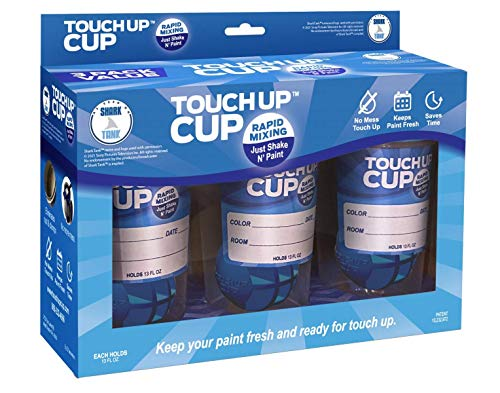 Touch Up Cup   Just Shake n' Paint - 3 Pack, Paint Storage, Touch Up Paint with Rapid Mixing Sphere Keeps Paint Fresh for 10 Years, No Mess, Saves Time - As Seen on Shark Tank
